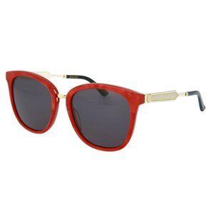 Gucci Red & Gold 55mm Sunglasses